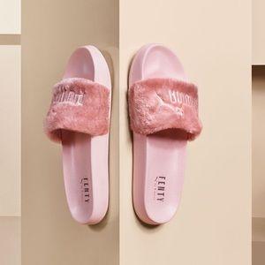 sports shoes f9a78 8a23a Women Puma Fenty Slides Pink on Poshmark